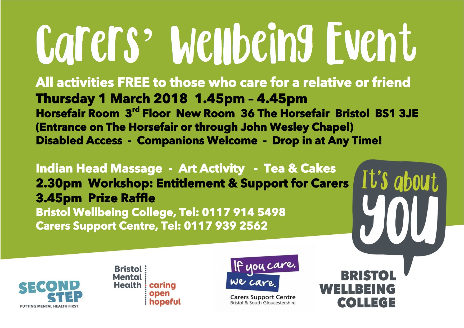 Bristol Wellbeing College Carers Event The New Room Bristol John Wesley S Chapel