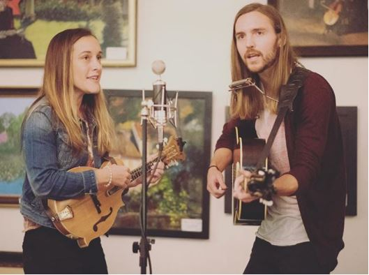 Americana roots indie folk duo Stray Local come to the New Room on 14th June