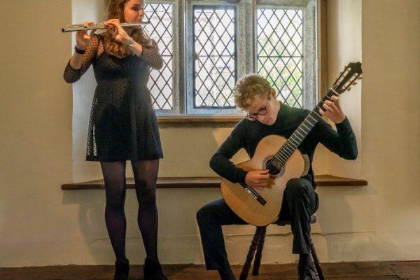 Emilia Parr, flautist and Ross Morris, classical guitar are Orbis Duo