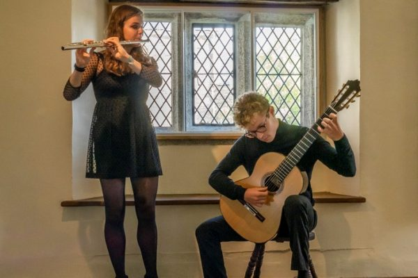 Emilia Parr, flautist and Ross Morris, classical guitar are Orbis Duo